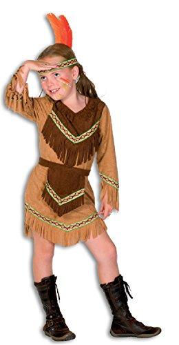 L3100840-164 Mädchen Indianerin Indianer-Kostüm ()