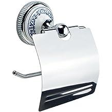 MSV MS108/ /Toilettenpapierhalter aus Keramik und Zink