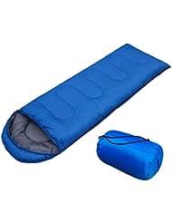Saco De Dormir Sobres Con Sombreros De Tres Estaciones De Primavera Y Verano Al Aire Libre Para Adultos Camping Camping Bolsas De Dormir, Tesoro Azul