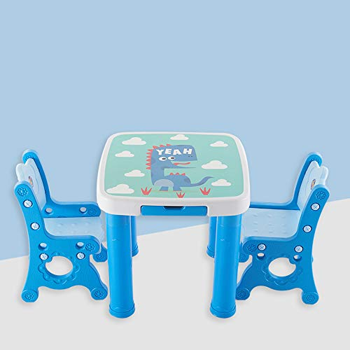 Kindermöbel Set, Holz Tisch Für Aktivitätsstuhl Studie Und Kinderspieltisch Mehrzweck Langlebig Rundum Ergonomisches Design Für Schlafzimmer Oder Jeden Kleinen Bereich,Blau