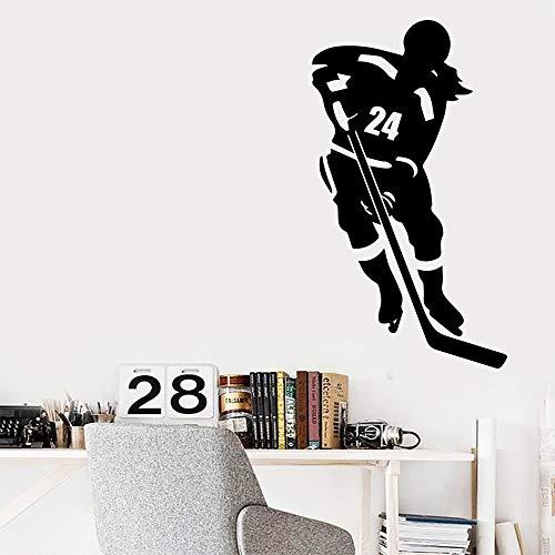 Moderne Eishockey wandaufkleber Dekoration mädchen Zimmer Aufkleber kinderzimmer Kindergarten wanddekoration wandbild Poster 45 cm x 79,5 cm