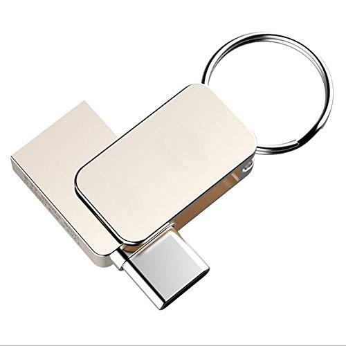 Smartphone USB-Stick USB Flash Memory Stick Thumb Pen Drive Klein und Handlich Metall 360 ° Drehung schnelle Geschwindigkeit Dual Port Type-C und USB3.0 Für Telefon Computer (32GB) -