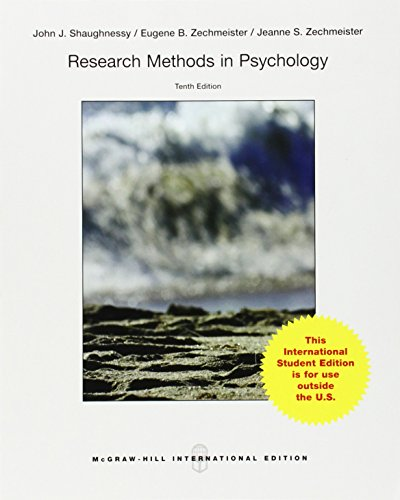 Research Methods in Psychology (Int'l Ed) (College Ie Overruns)