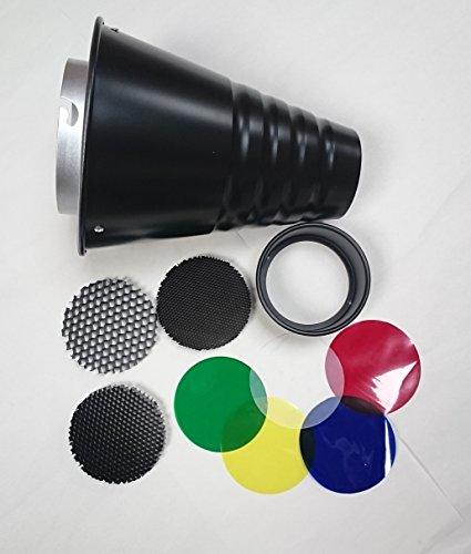 rocwing-snoot-pour-elinchrom-en-aluminium-interieur-noir-ou-argent-interieur-une-ou-trois-grille-nid