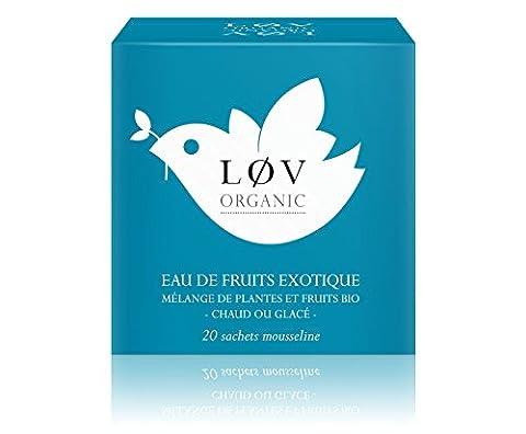 Løv Organic - Eau de Fruits Exotique - Boîte de 20 sachets