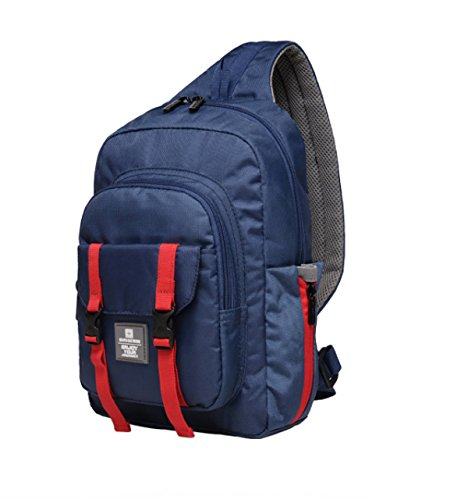 BULAGE Tasche Brusttasche Männer Und Frauen Im Freien Sport Rucksack Multifunktional Messenger Reisen Essen Wandern Farbe Blue