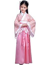 Daytwork Niñas Chino Hanfu Royal Bata - Vintage Antiguo Traje Populark Infantil Día Princesa Escenario Rendimiento