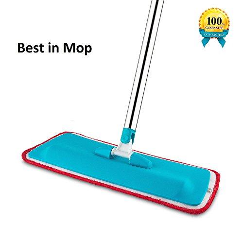 GosFrid Flat-Mop Microfiber Floor Mop, Hardwood Mop Stainless Steel Handle