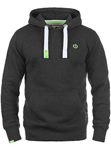 SOLID BennHood Herren Kapuzenpullover Hoodie Sweatshirt aus hochwertiger Baumwollmischung Dark Grey Melange (8288)