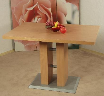 Säulentisch Buche natur 110 x 70 cm Esstisch Esszimmertisch Tisch Esszimmer neu