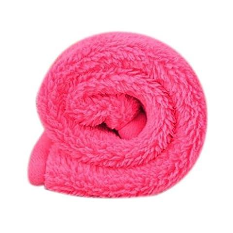 Ouneed® Pet Puppy Dog Cat Mat souple Fleece Blanket Quilt Bed Coussin Pad (Rose vif)