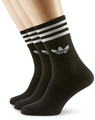 adidas Unisex Mid Cut Socken (3 Paar) M Schwarz/Weiß