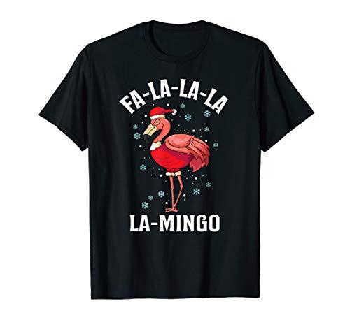 ihnachts-Flamingo-Wortspiel Kostüm T-Shirt ()