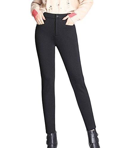 Mujer Leggings Con Forro Polar Skinny Elásticos Leggins