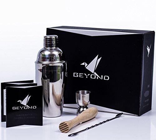 Beyond Premium Cocktail Shaker Set aus Edelstahl
