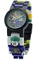 Lego DC Universe Super Heroes The Joker Minifigure Link Children's Quartz Watch with Multicolour Dial Analogue Display and Multicolour Plastic Bracelet 9001239