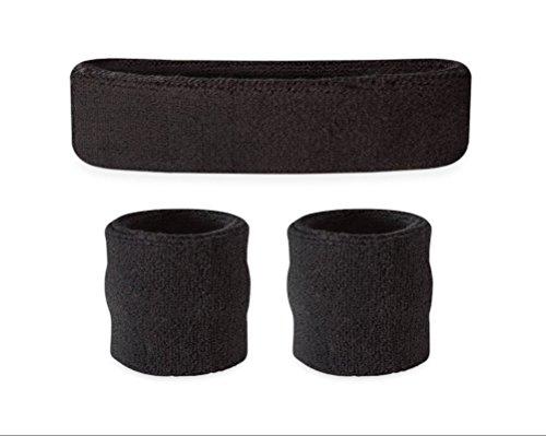 ajpartnership Stirnband/Wristband Set–Sport Schweißbänder für Kopf und Handgelenk (Armour Under Jungen Streifen)