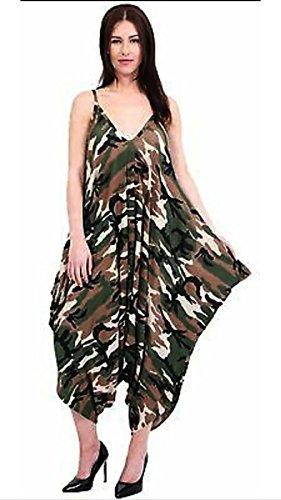 Sugerdiva Damen Bandeau Kleid schwarz schwarz Camouflage