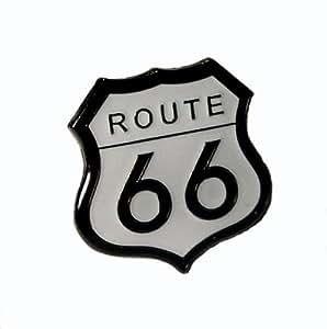 Metal Enamel Pin Badge Brooch Route 66 Transport Road Sign