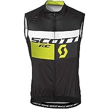 Scott RC Pro bicicleta Body Camiseta Negro/Rojo 2016, verano, hombre, color Negro - black/sulphur yellow, tamaño M (46/48)