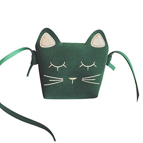 Borsa A Tracolla Mini Gatto Allouli Stampa Animalier Borsa Piccola In Pelle Verde