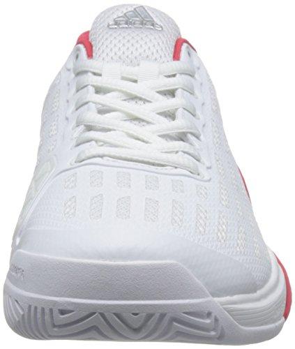 adidas Barricade 2016 Boost, Chaussures de Tennis Homme Blanc Cassé - Varios colores (Blanco (Ftwbla / Ftwbla / Rojray))