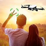 TianranRT Hélicoptère Télécommandé,Drone 4K Fpv Double Caméra Attitude Maintien...