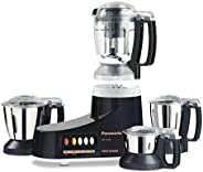 Panasonic Super Mixer Grinder, 1000W, MX-AC400, Black, 3 Stainless Steel Jars, 1 Juicer Jar, 1Yr. Warranty