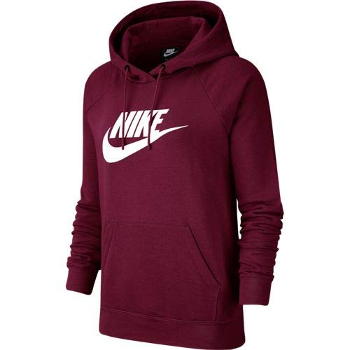 Nike Damen W NSW ESSNTL Hoodie PO HBR Sweatshirt, Team red/White, L