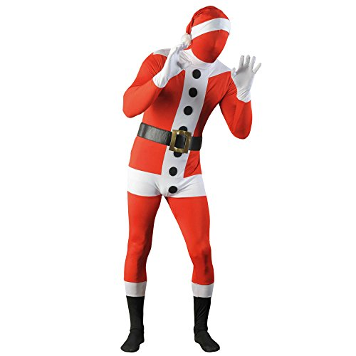 1.S - Speedsuit Santa Claus - Unisex Ganzkörperanzug - Größe  S (42/44), rot (Mob Kostüme Halloween)
