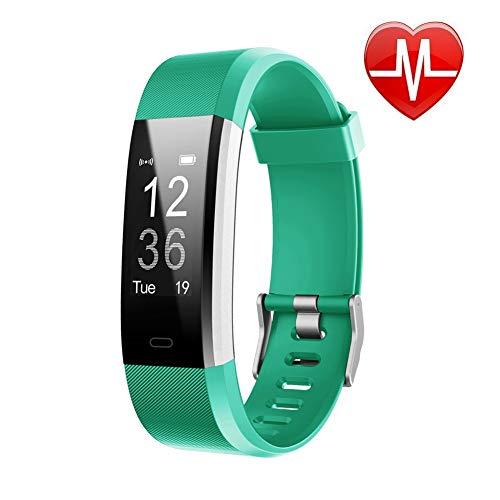 fqfq fitness tracker hr, orologio con cardiofrequenzimetro, impermeabile, con contapassi, contacalorie, contapassi, orologio per bambini, donne e uomini
