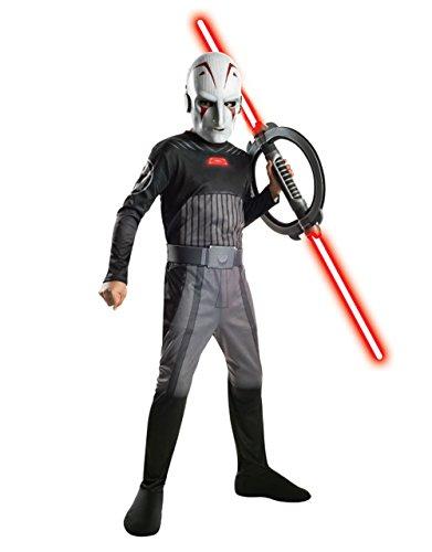 Star Wars Rebels Kostüm, Kinder die Inquisitor Outfit, groß, Alter 8–10, Höhe (Kostüme Star Rebels Wars Inquisitor)