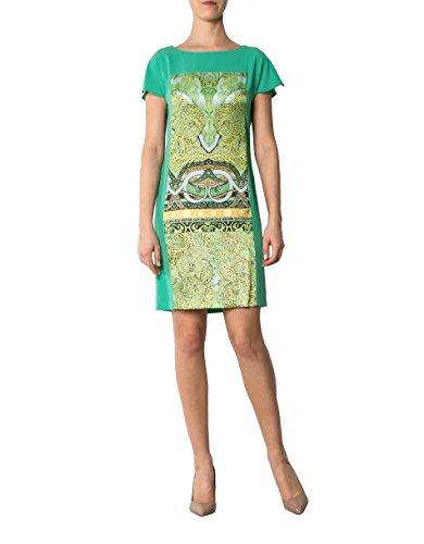 Laurèl Damen Kleid Mikrofaser Dress Gemustert, Größe: 40, Farbe: Grün Laurel