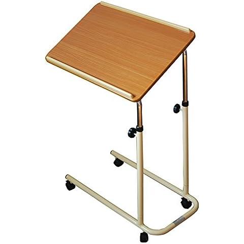 Studente Dormitorio può muoversi Ascensore Tipo tavolo pieghevole portatile pigro Table Learning Table Computer Desk Comodino ( colore : A )