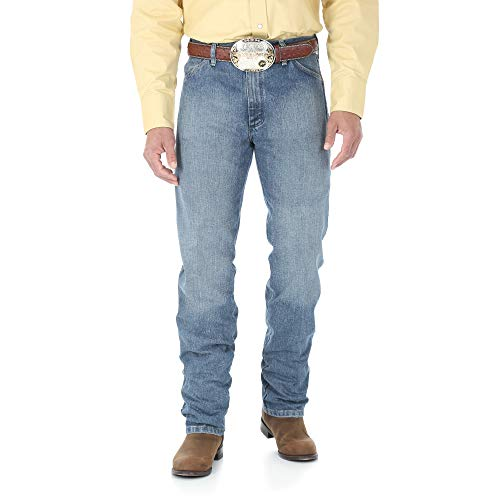 Wrangler Men's 13MWZ Cowboy Cut Original Fit Jean, Rough Stone, 34W x 30L