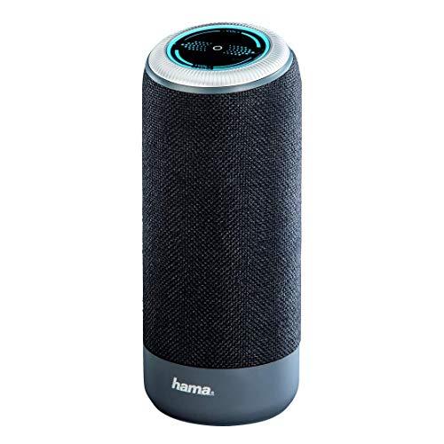 Hama Bluetooth-Lautsprecher mit Touch-Steuerung Soundcup-S (10 W, Bluetooth 4.1, Freisprechfunktion, Mikrofon, NFC, AUX, 3,5mm Klinke, für Smartphone, PC, Tablet, Speaker Box) schwarz
