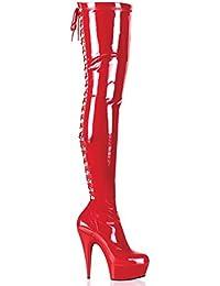 Pleaser - Botas para mujer Rot
