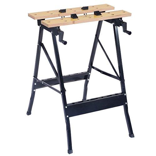 OUTAD 100kg Spanntisch Arbeitstisch Werkbank Werktisch Werkstatt Maschinentisch Werkzeugtisch inkl. 4 Kunststoffbacken klappbar tragbar