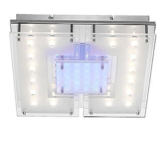 LED Decken Spot Leuchte Effektbeleuchtung Fernbedienung Licht blau weiß Glas Chrom 50287-17