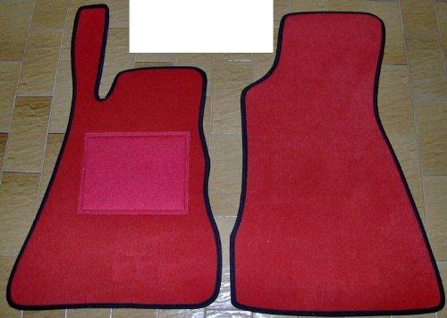 Smart Roadster Alfombras para coche, juego completo de alfombrillas sobre tamaño de moqueta rojos rojo