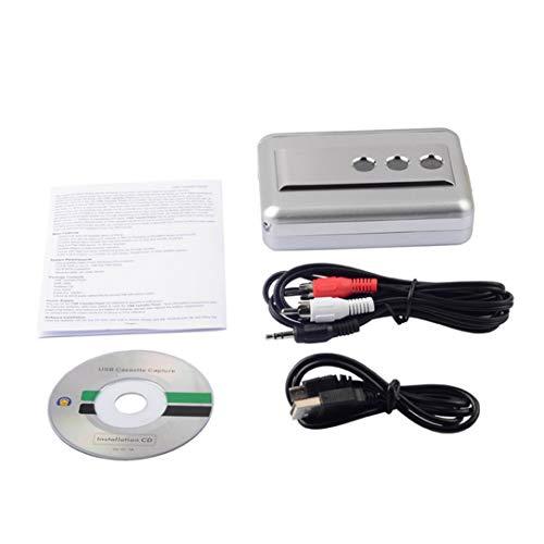 Monllack Multi-Function LP/Vinyl Records Tape USB Cassette Capture Portable Music Cassette-to-MP3 Converter Cassette Recorders & Players