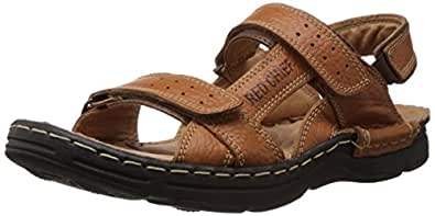 Redchief Men's Elephant Tan Leather Sandals and Floaters - 10 UK (RC0570 107)