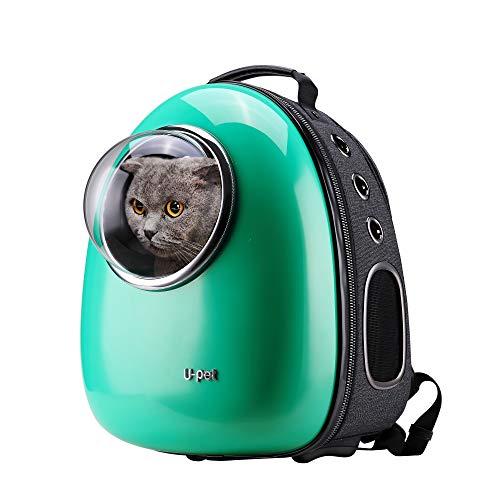 U-pet Bubble Pet Travel Rucksack Träger Grün -