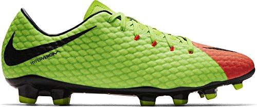 Nike Herren Hypervenom Phelon 3 Fg Fußballschuhe, Grün (Elctrc Green/Black-Hyper Orange-Volt), 39