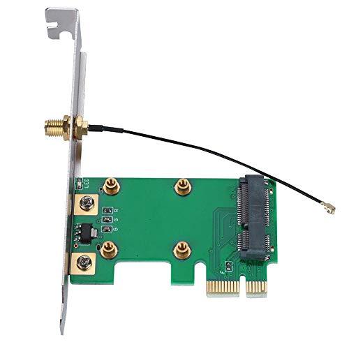 Zerone Adapter Karte PCI Express auf Mini PCI Express Netzwerk Wireless Ethernet LAN Mini PCI-E Riser PC auf Laptop Adapter Karte Netzwerk Konverter Antenne WLAN (Wlan-ethernet-konverter)