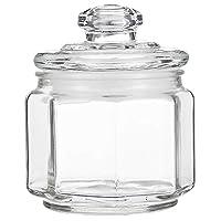 Claro Glass Storage Jar With Airtight Lid GLS0010083, 260 ml