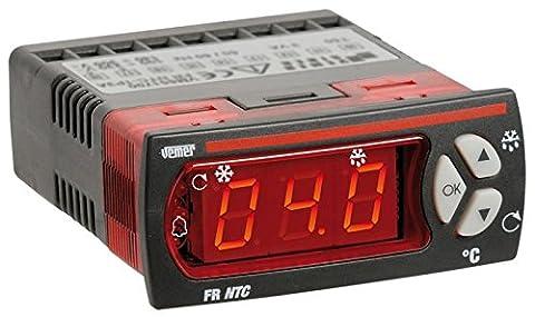 Panneau digital FR Régulateur de NTC-1P3D gère Unités de climatisation statiques (c'est-Ventilateurs de à-dire sans l'aide d'un évaporateur) fonctionnant à une température supérieure à 0° Vemer C ÷ 24 V VM650900 Alimentation 12 AC-DC sondes pouvant être connectés termoresistenze NTC