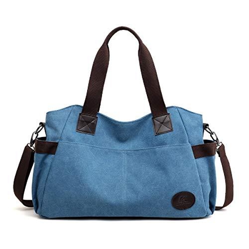 9aca341a12c7e Canvas Tasche Damen Rucksack Handtasche Damen Vintage Umhängentasche Anti  Diebstahl Tasche Hobo Tasche für Alltag Büro