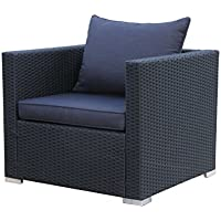 Famous Home Rattan Lounge Sessel Pepe Schwarz Sofa Loungesessel Relaxsessel Schlafsessel