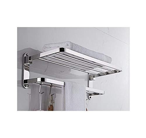 AYJJ Badezimmer-Regal-Haken/Befestigungen/Badezimmer-Regal mit Schiene das Haus, das für Raum bindet Badezimmer-Toilette Minimalistischer Arm-Stil 40Cm
